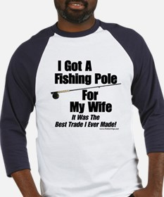 Pole For My Wife Baseball Jersey