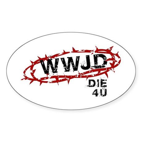 WWJD Oval Sticker