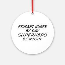 Student Nurse Superhero by Night Ornament (Round)