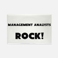Management Analysts ROCK Rectangle Magnet
