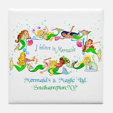 Southampton believes in Mermaids Tile Coaster