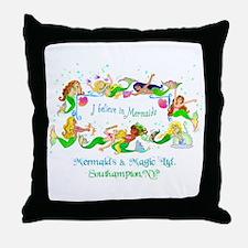 Southampton believes in Mermaids Throw Pillow