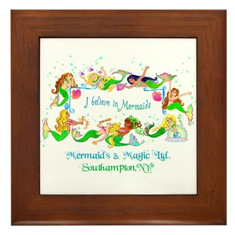 Southampton believes in Mermaids Framed Tile