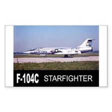 F-104 STARFIGHTER Rectangle Decal