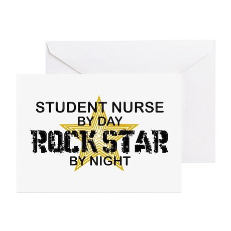 Student Nurse Rock Star by Night Greeting Cards (P