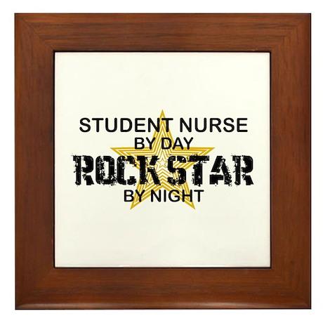 Student Nurse Rock Star by Night Framed Tile