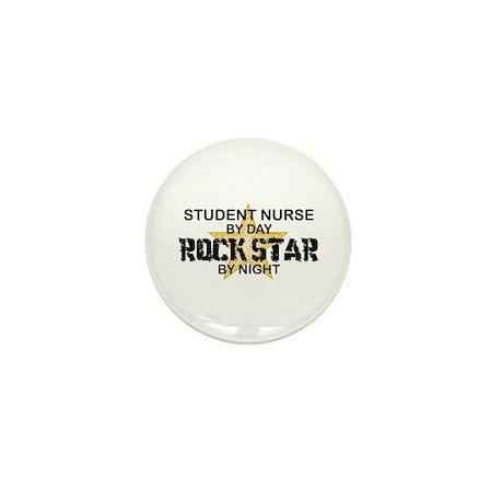 Student Nurse Rock Star by Night Mini Button