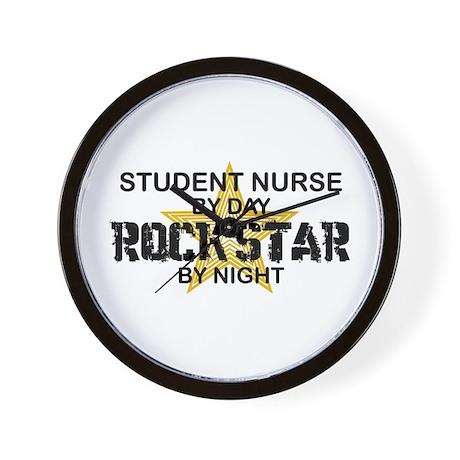 Student Nurse Rock Star by Night Wall Clock