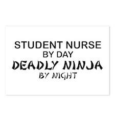 Student Nurse Deadly Ninja by Night Postcards (Pac