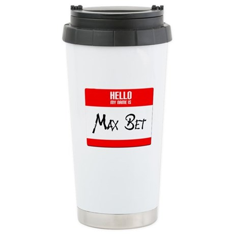 Max Bet Stainless Steel Travel Mug