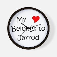 Cute Jarrod name Wall Clock