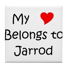 Jarrod name Tile Coaster