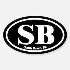 South Beach SB Euro Oval Oval Decal
