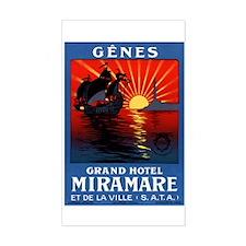 Grand Hotel Miramare (Genoa) LuggageSticker(UnCut)