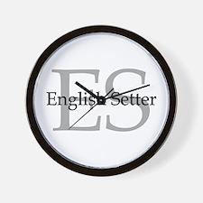 English Setter ES Wall Clock