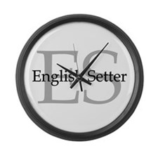 English Setter ES Large Wall Clock