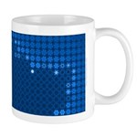 Julia Set Map Mug, blue, z^6