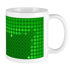 Julia Set Map Mug, green, z^5