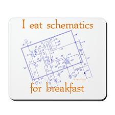 HamTees.com I Eat Schematics Mousepad