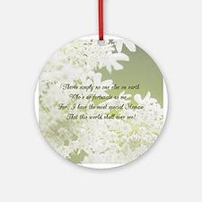 Memaw White Jasmine Ornament (Round)