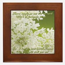 Memaw White Jasmine Framed Tile