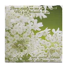 Memaw White Jasmine Tile Coaster