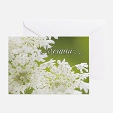 Memaw White Jasmine Greeting Card