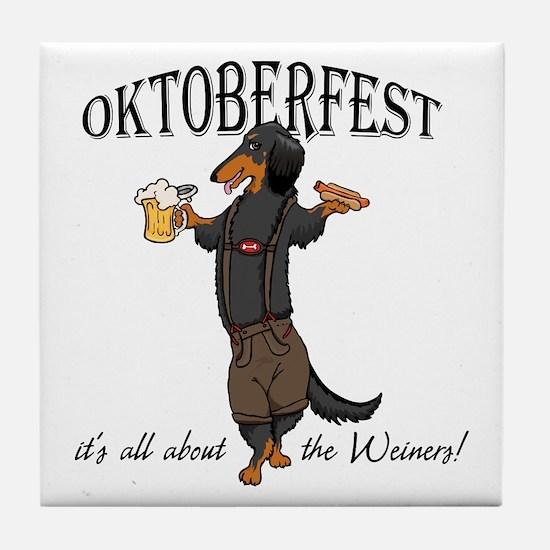 LHBT Oktoberfest Dachsie Tile Coaster