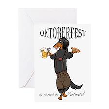 LHBT Oktoberfest Dachsie Greeting Card