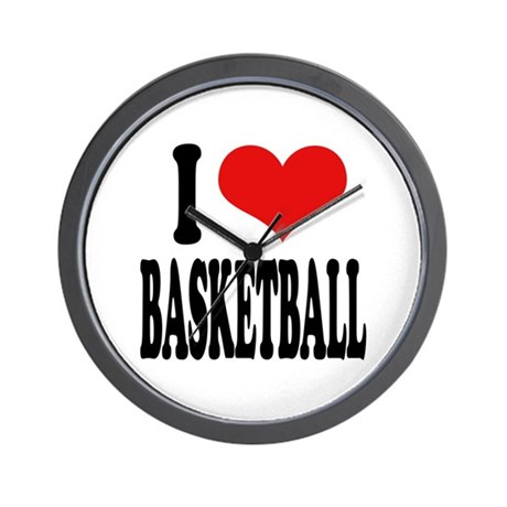 I Love Basketball Wall Clock