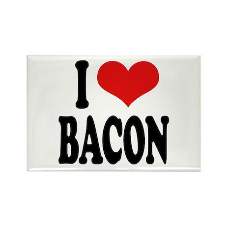 I Love Bacon Rectangle Magnet (100 pack)