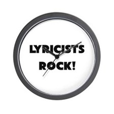 Lyricists ROCK Wall Clock