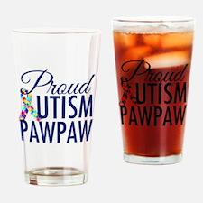 Autism PawPaw Drinking Glass