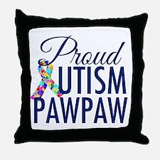 Autism PawPaw Throw Pillow