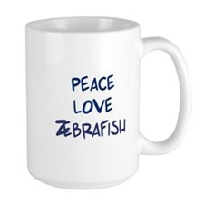 Peace, Love, Zebrafish Coffee Mug