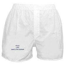 Peace, Love, Snakeskin Gouram Boxer Shorts