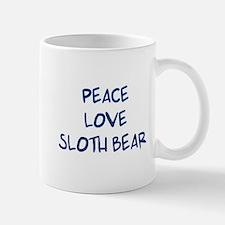 Peace, Love, Sloth Bear Mug
