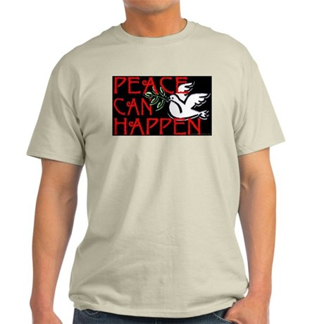 Peace Can Happen Ash Grey T-Shirt