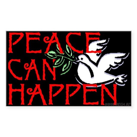 Peace Can Happen Rectangle Sticker