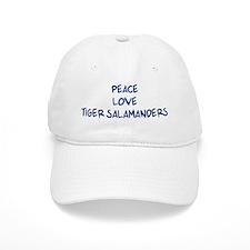 Peace, Love, Tiger Salamander Baseball Cap