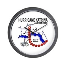 Hurricane Katrina Tracking Chart Wall Clock
