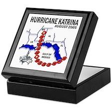 Hurricane Katrina Tracking Chart Keepsake Box