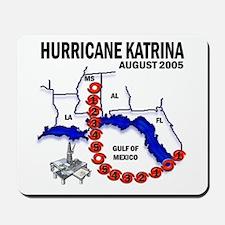 Hurricane Katrina Tracking Chart Mousepad