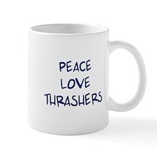 Peace, Love, Thrashers Mug
