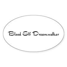 Blood Elf Dreamwalker Oval Decal