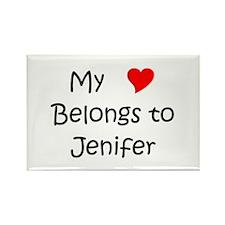 Cool Jenifer Rectangle Magnet
