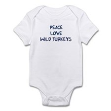 Peace, Love, Wild Turkeys Infant Bodysuit