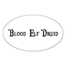 Blood Elf Druid Oval Decal