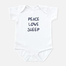 Peace, Love, Sheep Infant Bodysuit