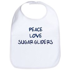 Peace, Love, Sugar Gliders Bib